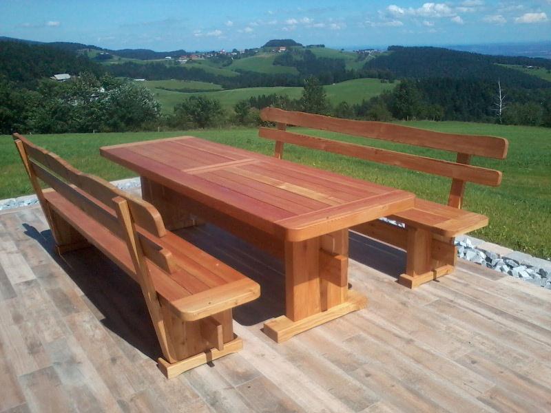 Lesena sedežna garnitura - 2