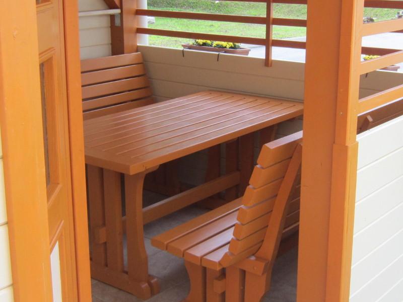 Lesena sedežna garnitura - 3